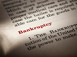 Image of bankruptcy facts in a textbook
