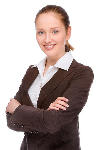 Professional woman ready to help with bankruptcy